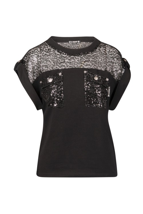 CAMISETA RED SEQUINS