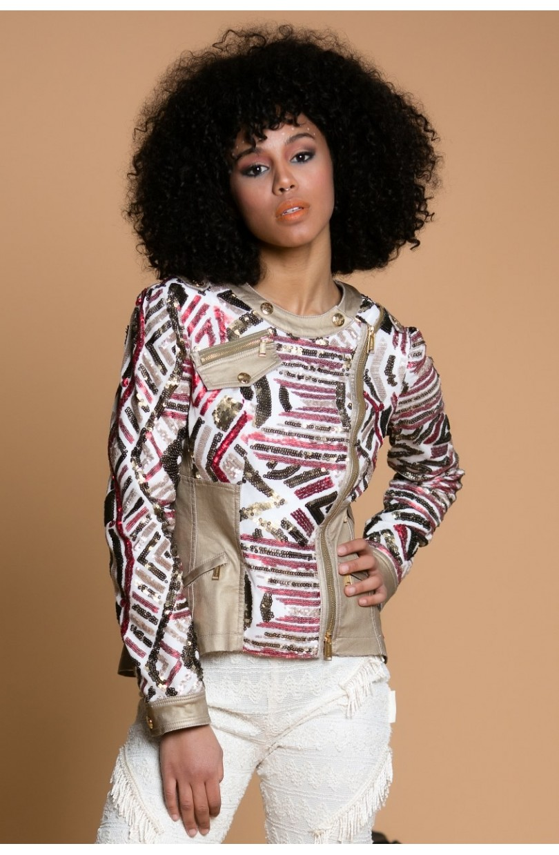 CHAQUETA TRIBAL SEQUINS